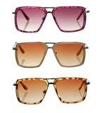 Ensemble de lunettes de soleil colorées images libres de droits