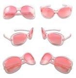 Ensemble de lunettes de soleil roses Image libre de droits