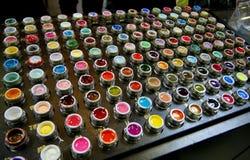 Ensemble de lustre de lèvre Photographie stock