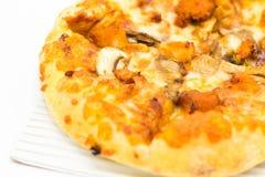 Ensemble de luxe superbe de boîte à pizza de coût- d'isolement sur le fond blanc images stock