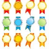 Ensemble de médailles Photo stock