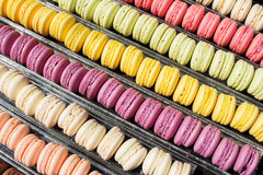 Ensemble de macarons français de biscuits Photographie stock libre de droits
