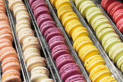 Ensemble de macarons français de biscuits Photographie stock