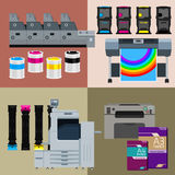 Ensemble de machine d'impression de Digital illustration libre de droits
