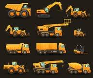 Ensemble de machines de construction Illustration Libre de Droits