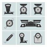 Ensemble de machines de pesage Images stock