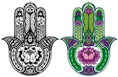 Ensemble de main de Hamsa Image stock