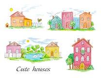 Ensemble de maisons de ville et de village illustration de vecteur