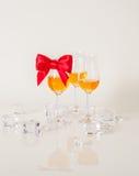 Ensemble de malt simple goûtant les verres, whiskey de malt simple dans glas Image stock