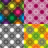 Ensemble de Mandala Color Pattern sans couture Image stock