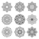 Ensemble de mandalas illustration libre de droits