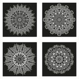 Ensemble de mandalas Collection de mandala de vecteur pour votre conception Photos stock