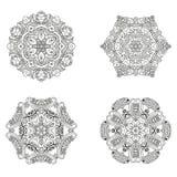 Ensemble de mandalas Collection de mandala de vecteur pour votre conception Images stock