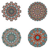 Ensemble de mandalas Collection de mandala de vecteur pour votre conception photographie stock