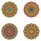 Ensemble de mandalas Collection de mandala de vecteur pour votre conception Image stock