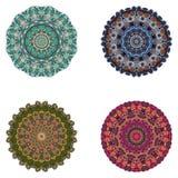 Ensemble de mandalas Collection de mandala de vecteur pour votre conception Photographie stock libre de droits