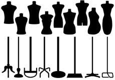 Ensemble de mannequin différent de tailleurs illustration stock