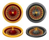 Ensemble de maquette de rotation de roue de roulette, style réaliste illustration de vecteur