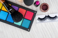 Ensemble de maquillage professionnel photographie stock libre de droits