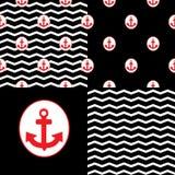 Ensemble de Marina Patterns Image libre de droits