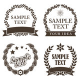 Ensemble de Mark Decorative Labels commercial Image stock