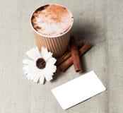 Ensemble de marquage à chaud de maquette d'identité de café Images stock