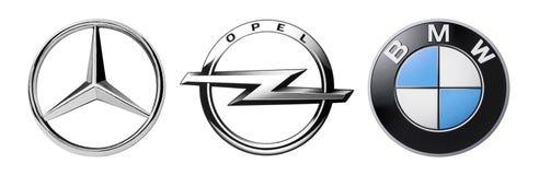 Ensemble de marques allemandes populaires de logos des voitures illustration libre de droits