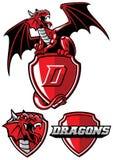 Ensemble de mascotte de dragon