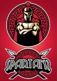 Ensemble de mascotte de Spartan Warrior Photo stock