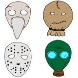 Ensemble de masque de Haloween illustration libre de droits