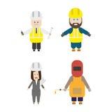 Ensemble de membres de l'équipe de construction Image libre de droits
