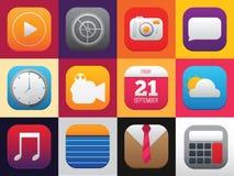 Ensemble de menu d'icône Images stock