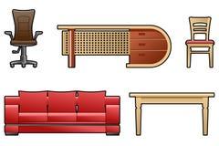 Ensemble de meubles Images stock