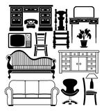 Ensemble de meubles illustration stock