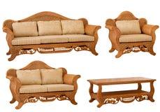 Ensemble de meubles d'isolement de rotin Photo libre de droits