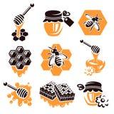 Ensemble de miel. Vecteur Images libres de droits