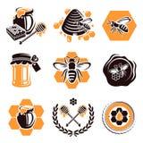 Ensemble de miel. Vecteur Photos stock