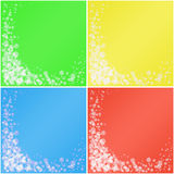 Ensemble de milieux colorés. Photographie stock