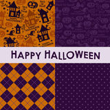 Ensemble de milieux de Halloween illustration stock