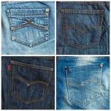 Ensemble de milieux de poches de jeans Image libre de droits
