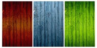 Ensemble de milieux en bois Image stock