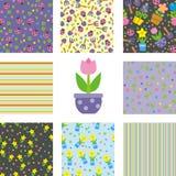 Ensemble de milieux floraux illustration libre de droits