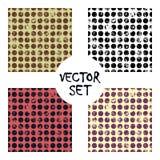 Ensemble de milieux géométriques créatifs de modèles sans couture de vecteur avec des lignes, diagonale, cercles, points Texture  Image libre de droits