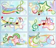 Ensemble de milieux musicaux Image stock