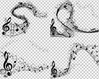 Ensemble de 4 milieux musicaux Images stock