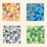 Ensemble de milieux polygonaux colorés illustration libre de droits
