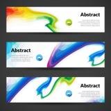 Ensemble de milieux polygonaux de bannières de vecteur pour la conception graphique moderne Conception de bannière Images libres de droits