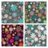 Ensemble de milieux sans couture de flocons de neige illustration de vecteur