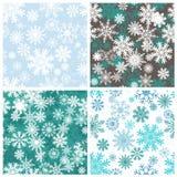 Ensemble de milieux sans couture de flocons de neige illustration stock