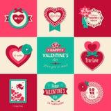 Ensemble de milieux typographiques de jour de valentines Image libre de droits